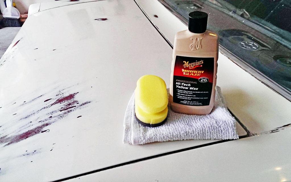 Waxing the Mustang