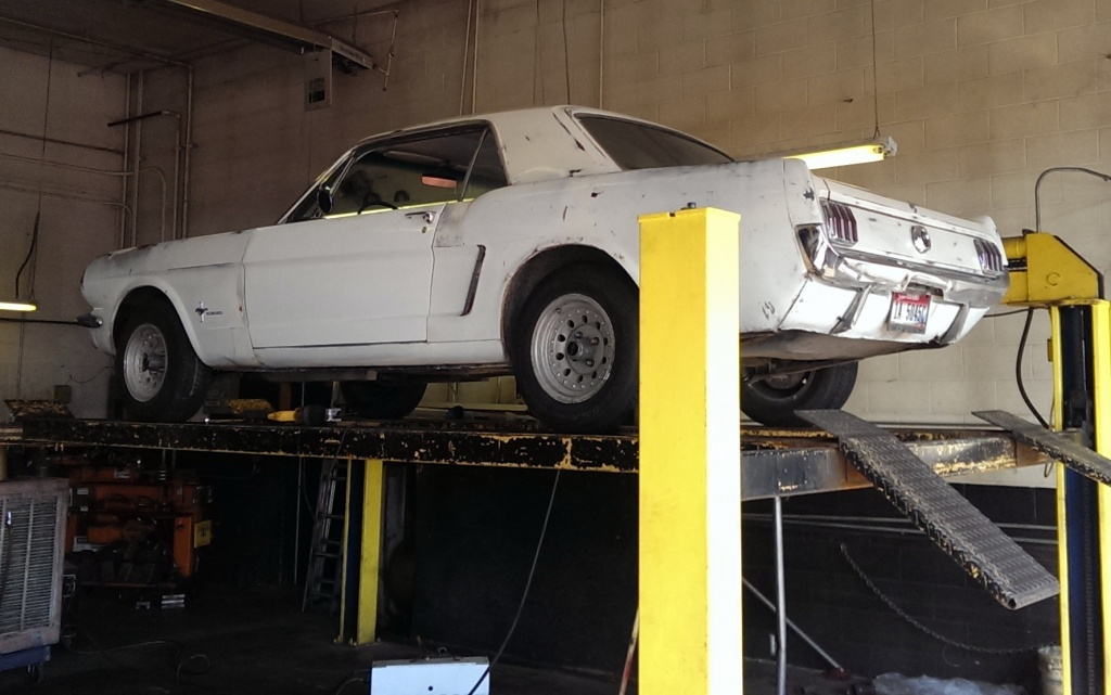 mustang-on-lift