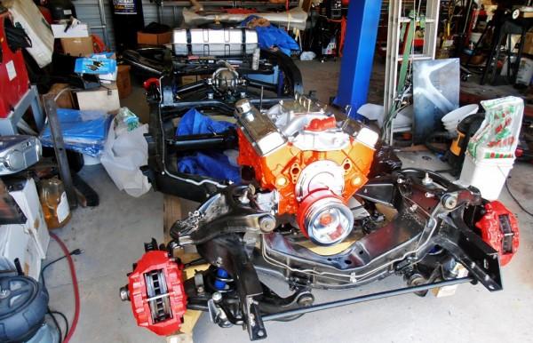 Assembled Corvette Chassis