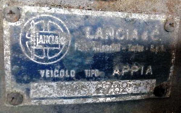 Lancia C80S VIN