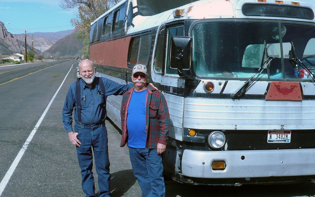 Wayne and Dave and bus