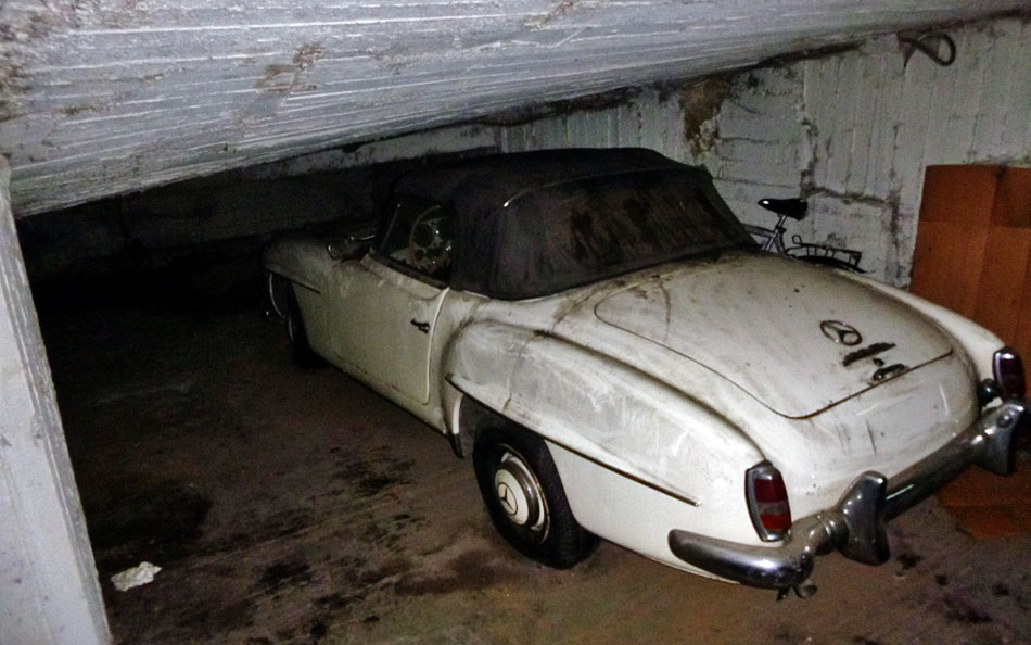 Greek Barn Find 1961 Mercedes 190SL