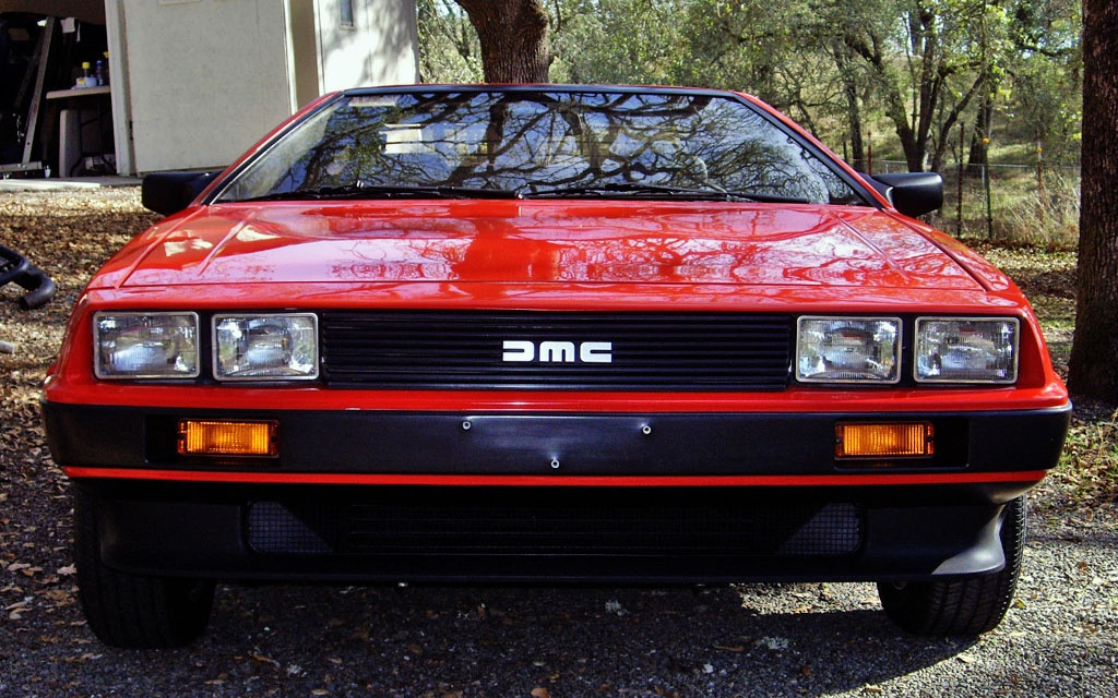 Red 1981 DeLorean DMC12