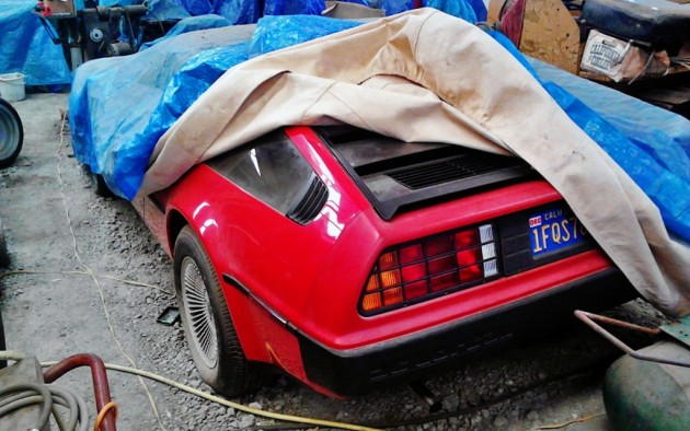 Red 1981 DeLorean DMC12 with Only 981 Miles