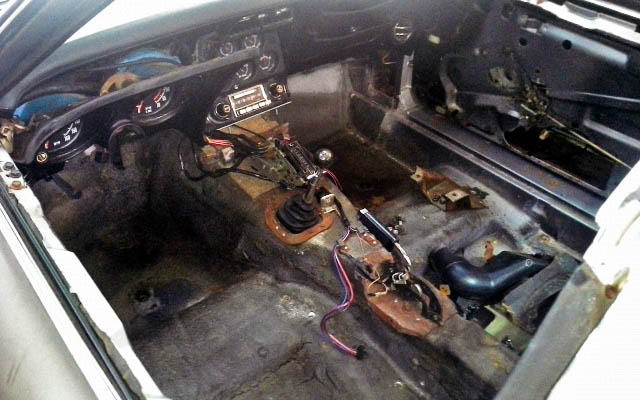 Corvette Interior Gutted Out