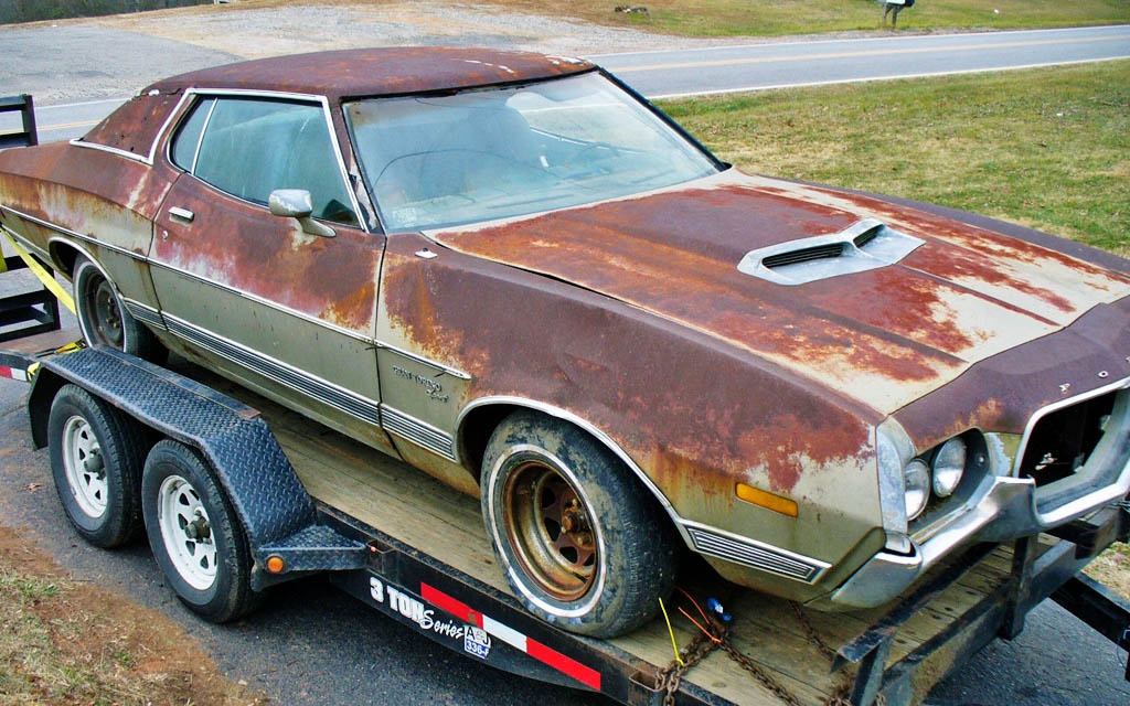 rusty big block 1972 ford gran torino. Black Bedroom Furniture Sets. Home Design Ideas