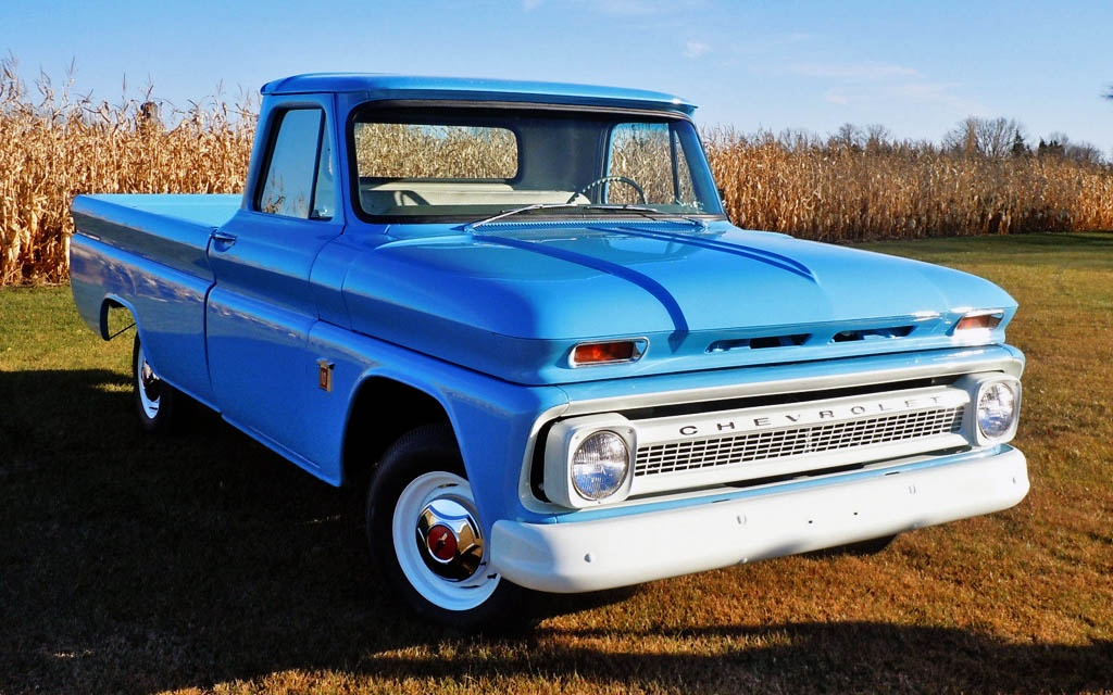 Looking at this 1964 chevy c 10 pickup you might think it is