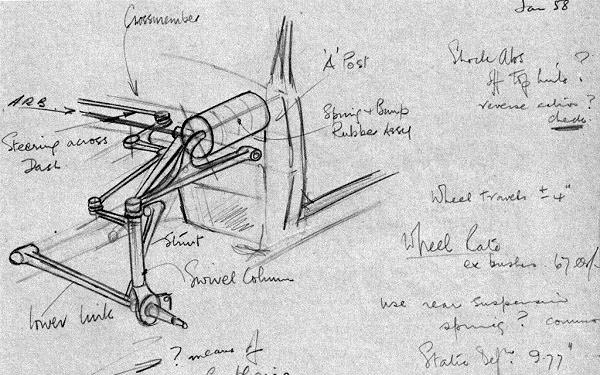 Rover P6 Suspension Sketch