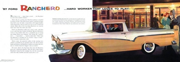 1957 Ford Ranchero Ad