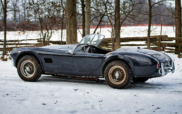 1964 Shelby Cobra in the Snow