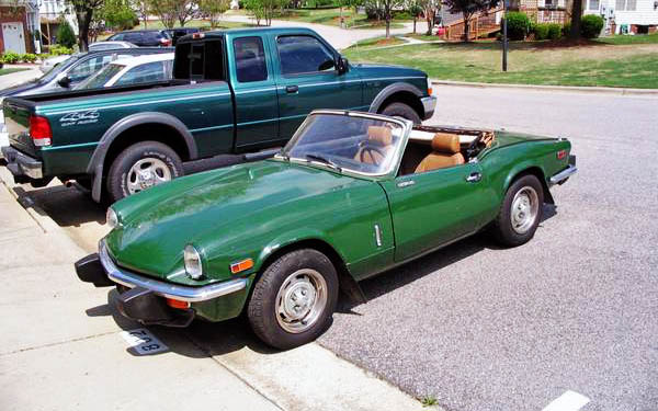 cheap and cheerful 1976 triumph spitfire 1500. Black Bedroom Furniture Sets. Home Design Ideas