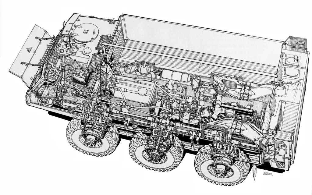 Alvis Stalwart FV620 Cutaway