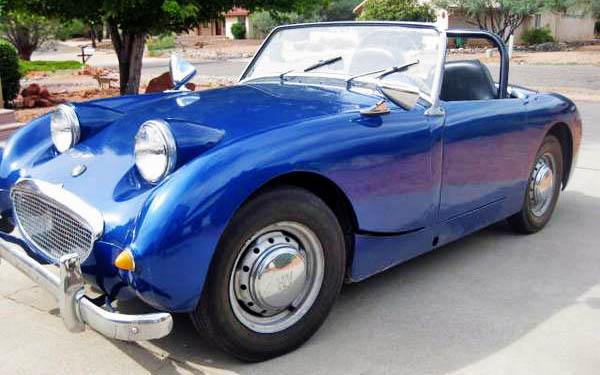 Blue 1960 Austin Healey Sprite