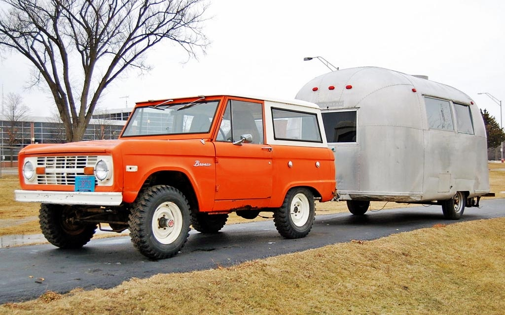Bronco with Airstream