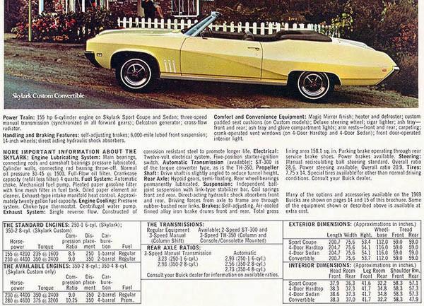 Buick Skylark Brochure