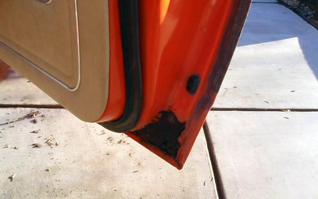 Chevy Vega Door Rust