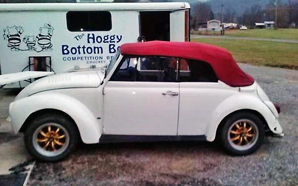 bargain drop top  volkswagen beetle convertible