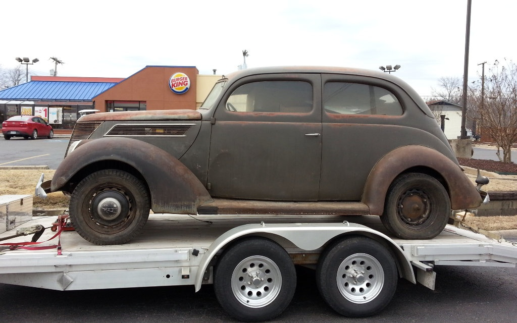 1937 ford 2 door from barn to barn