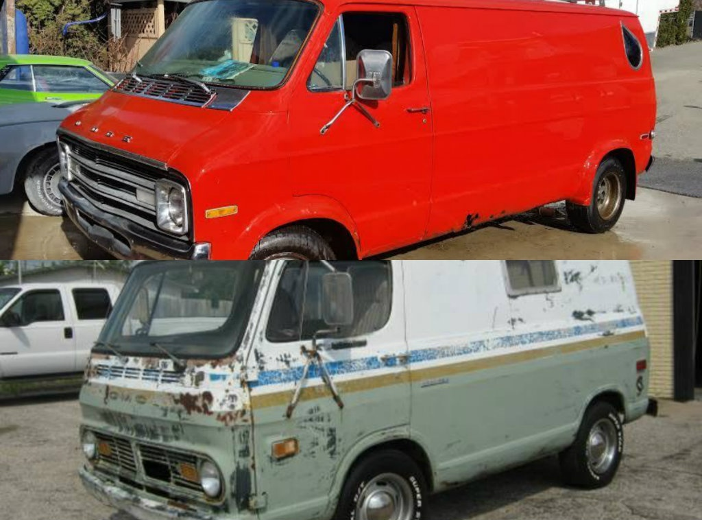 1977 dodge ram van vs 1970 gmc short van. Black Bedroom Furniture Sets. Home Design Ideas