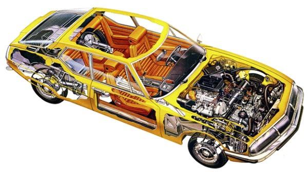 Citroen SM Cutaway