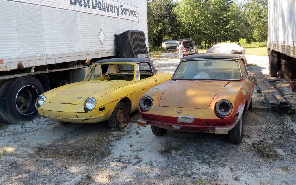 Pair Of Arachnids: Two Fiat 850 Spiders