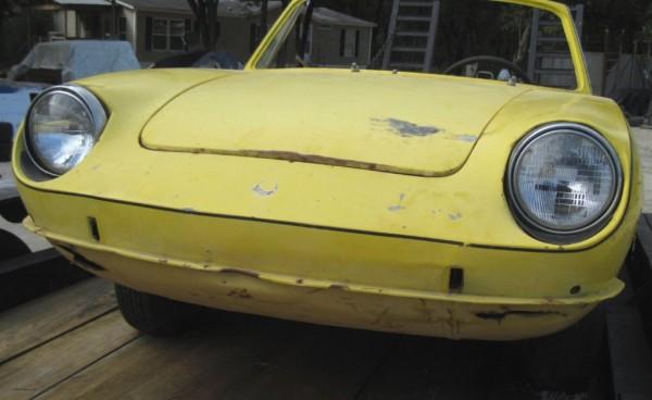 Yellow Fiat 850 Spider