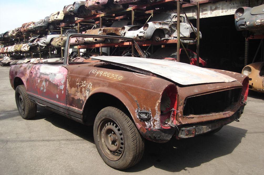 1970 mercedes 280 sl junkyard find for Mercedes benz junkyard