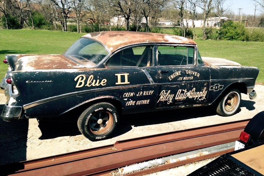 1956 Chevrolet Drag Car Blue Ii