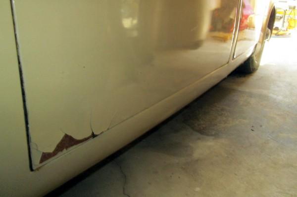 1967 Jaguar 240 Rust Spot