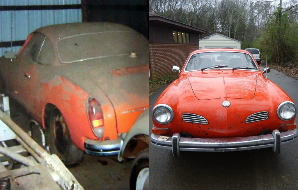 cleans up nicely  1974 vw karmann ghia