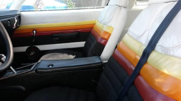 Striped interior