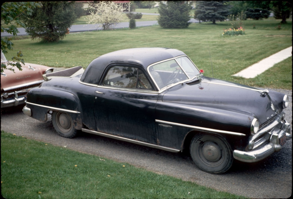 Chevy Bel Air Dodge Coupe Owned By William T Pritchard His Last Car Terry Owned At Cornell With Bus Seat And Toilet In Back At Hanshaw