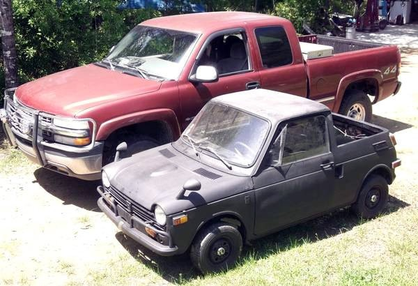 the smallest mini truck 1972 honda n600. Black Bedroom Furniture Sets. Home Design Ideas