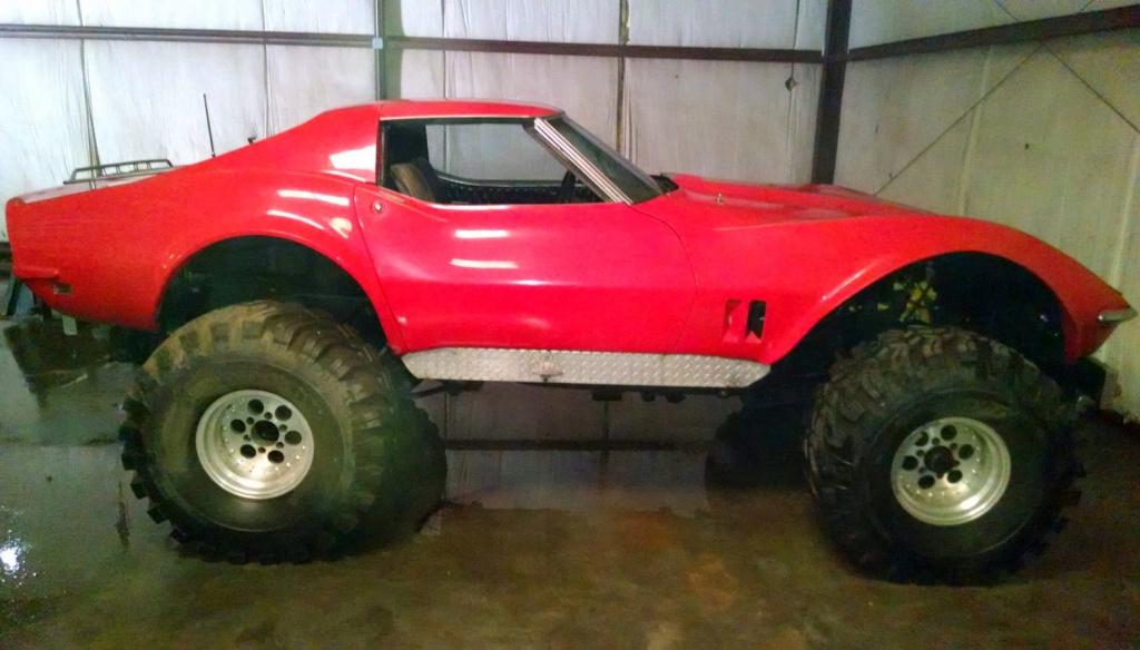 Monster Truck Tires >> 1968 Corvette Monster Truck!