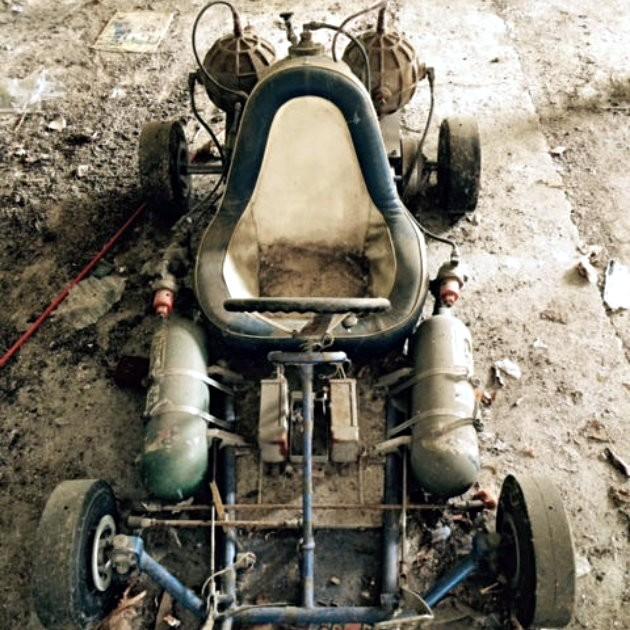 Rocket Thrust Go Kart Barn Find