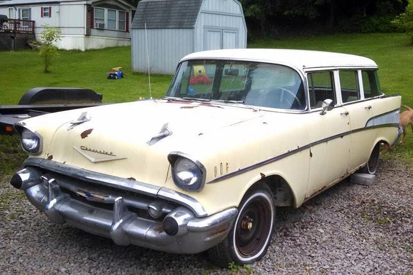 1957 chevy bel air wagon 4 door classic. Black Bedroom Furniture Sets. Home Design Ideas