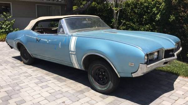Low Optioned 1968 Oldsmobile 442 Convertible