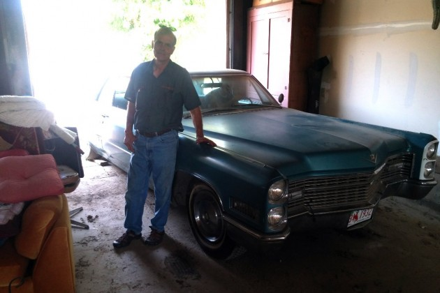 Dad With His Caddy