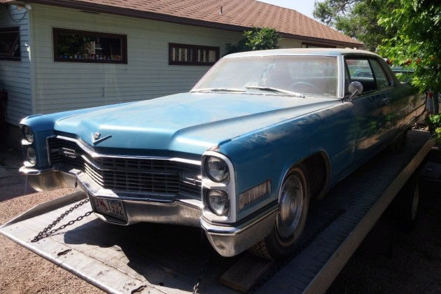 Towing Cadillac