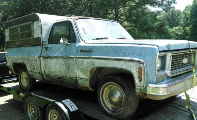 1973 Chevy Cheyenne Super 10: Lean-To Find