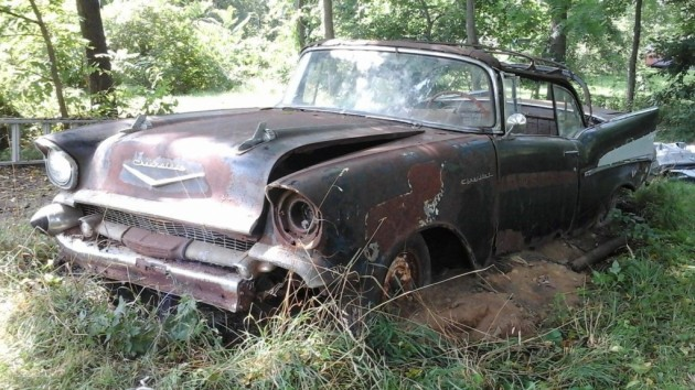 Backwoods Bargain 57 Chevy Convertible