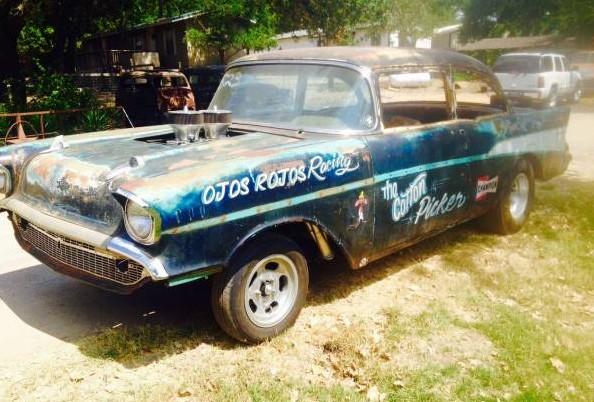 Race Worn 1957 Chevy Drag Car