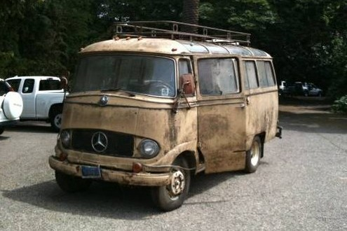 1960 mercedes panorama bus intact glass for Mercedes benz 319 bus for sale