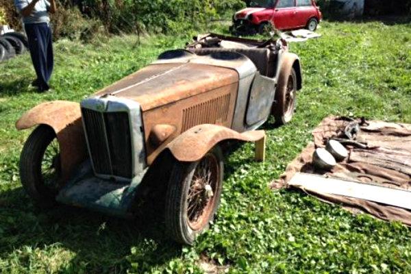 Pre War T Series Barn Find MG TA 1938