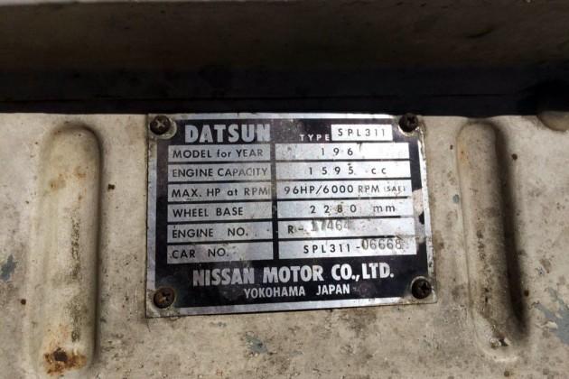 1967 Datsun 1600 Tag