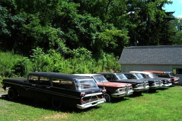 Six 1959 Edsels