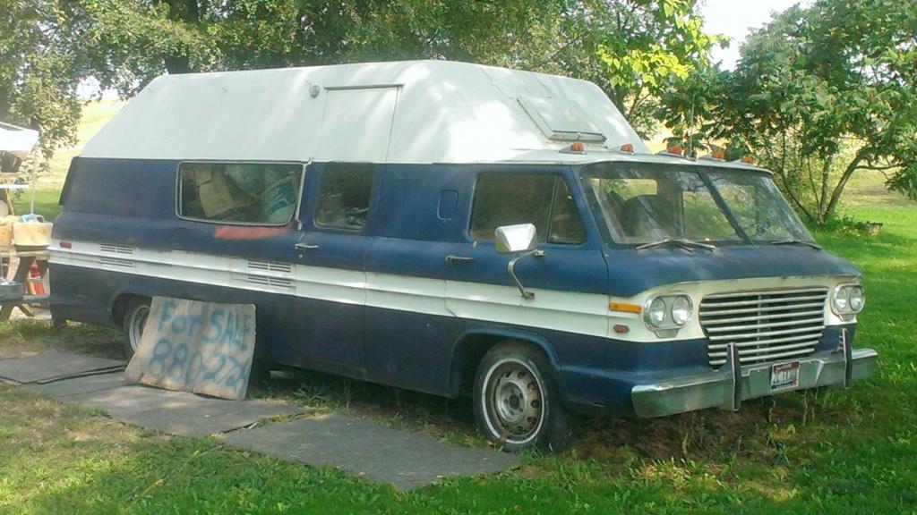 Yard Sale Sighting Corvair Camper