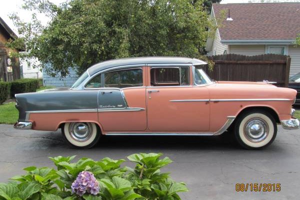 Car Auctions Ny >> 1955 Chevy Bel-Air: Coral Over Gray And Rust