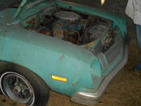'77 Pinto hood up