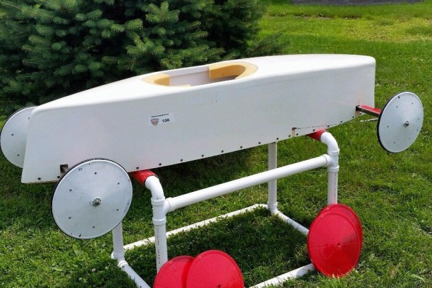 Red and White Soap Box Derby